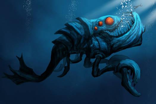 Speed paint : Underwater Monster 1