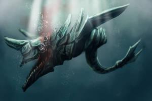Speed paint : Underwater Monster 2