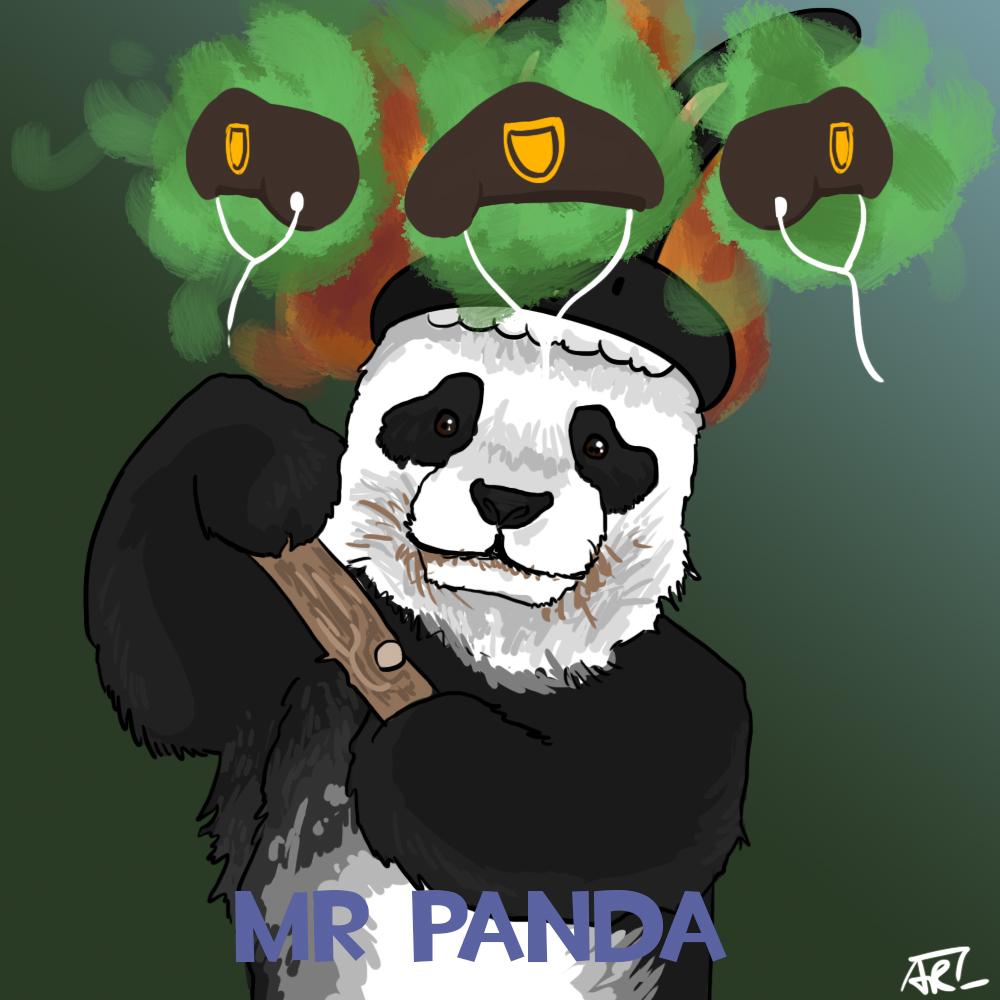 Dat panda by MugiwaraWolf