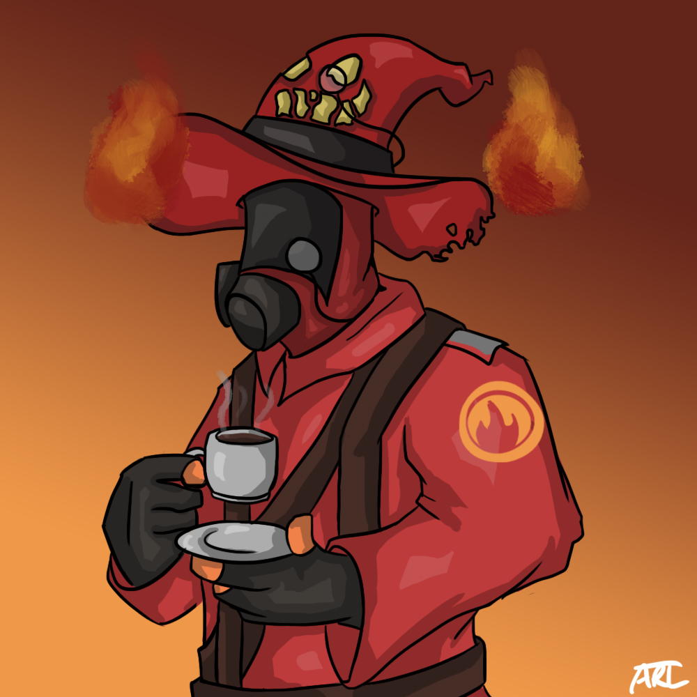 Pyro is a heartless wretch by MugiwaraWolf