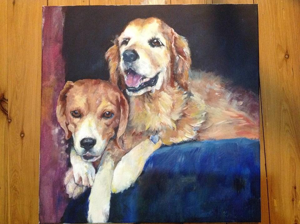 My dogs by MugiwaraWolf