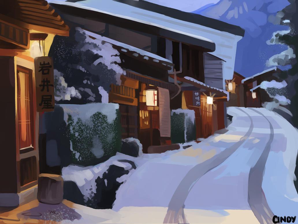 Town by MugiwaraWolf