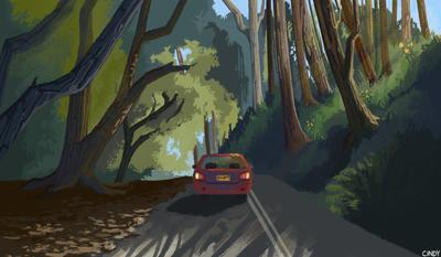 The Road by MugiwaraWolf
