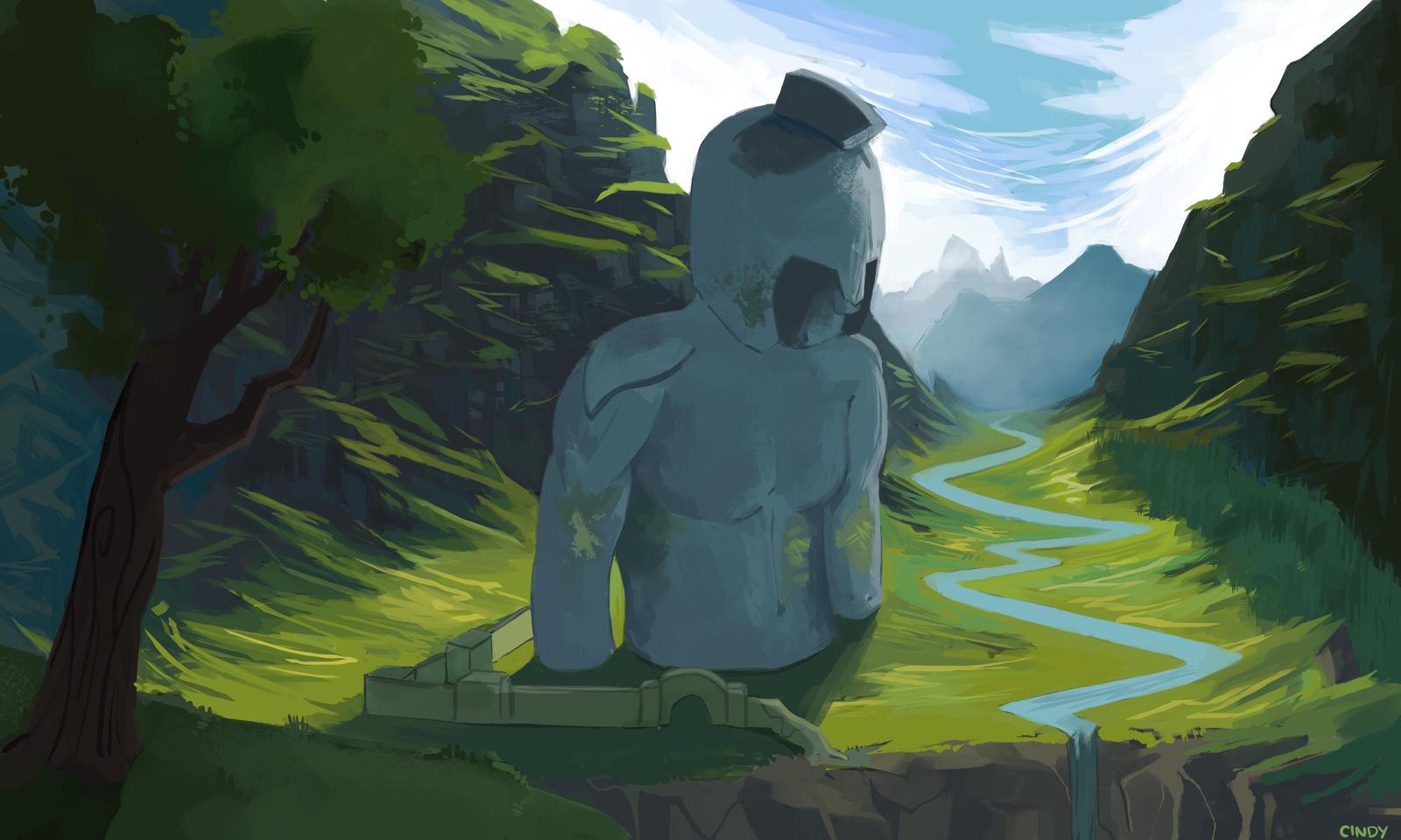 Frozen God by MugiwaraWolf