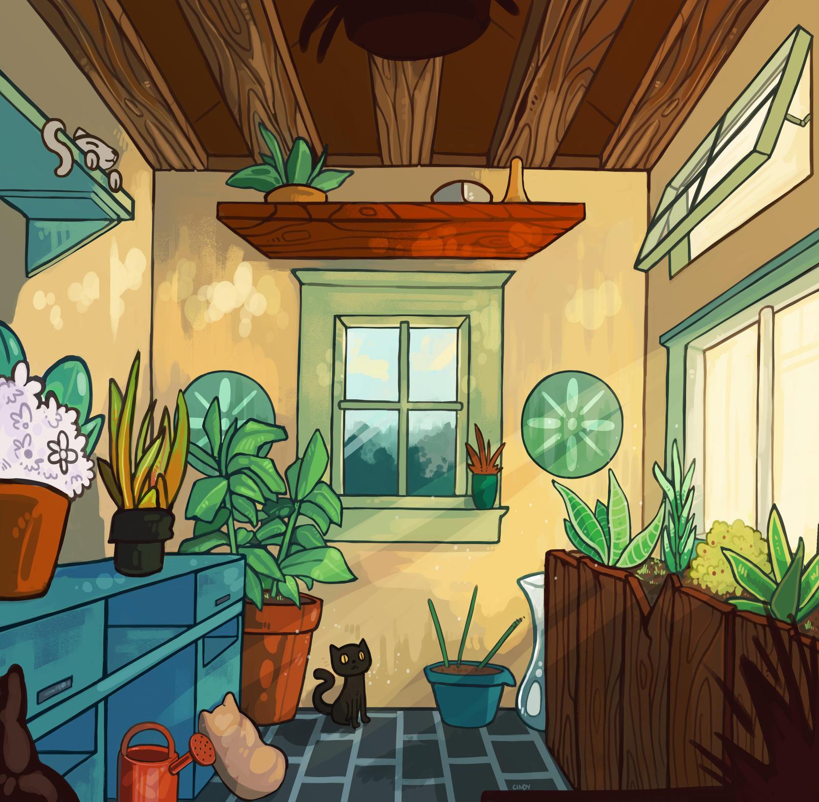 Plant Room by MugiwaraWolf