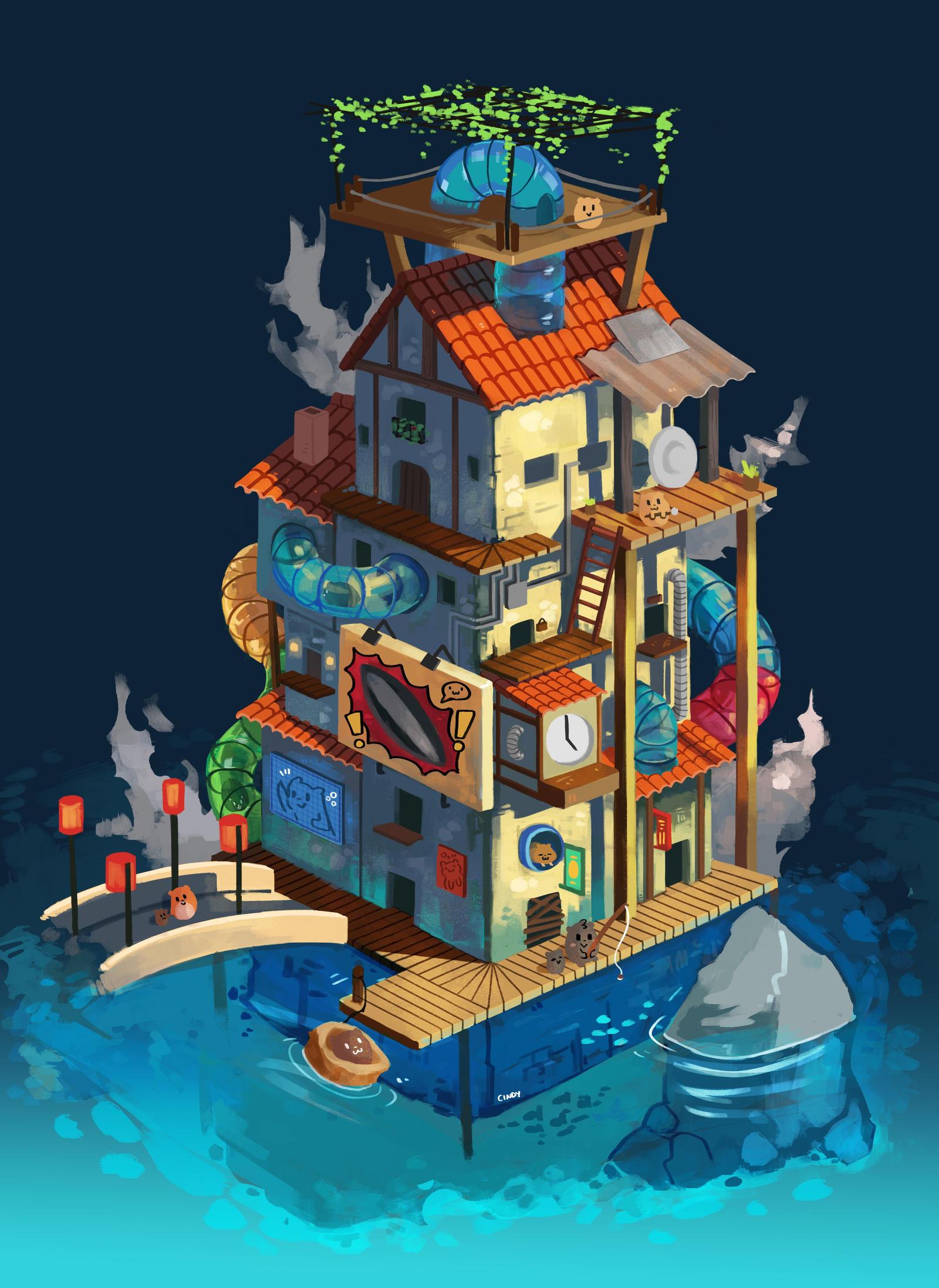 Hamsterland by MugiwaraWolf