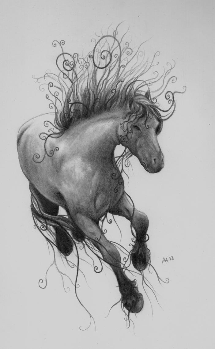 Horse tattoo concept by weyzen on deviantart for Horse tattoo traditional