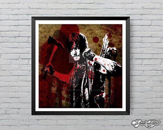 Daryl Dixon limited edition art print by GandiArtist