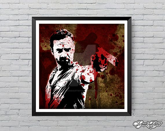 Rick grimes from amc's hit tv series walking dead by GandiArtist