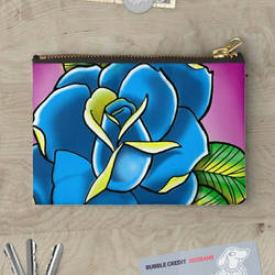 Tattoo inspired rose studio pouches