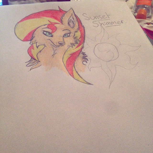 Sunset Shimmer by Fictitiouswolf