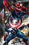 Captain America vs. Spider-Man!