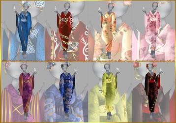 Floral Kimono/Adopt/Open by ArcaneArtefacts