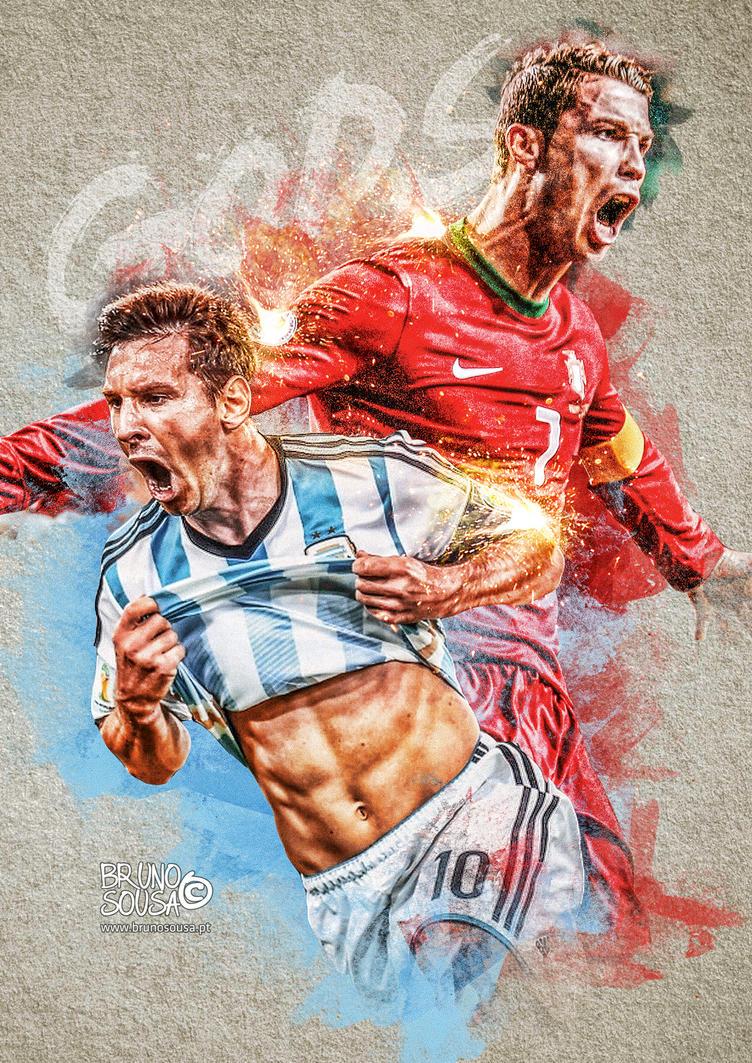 Gods - Cristiano Ronaldo and Messi by bruno-sousa