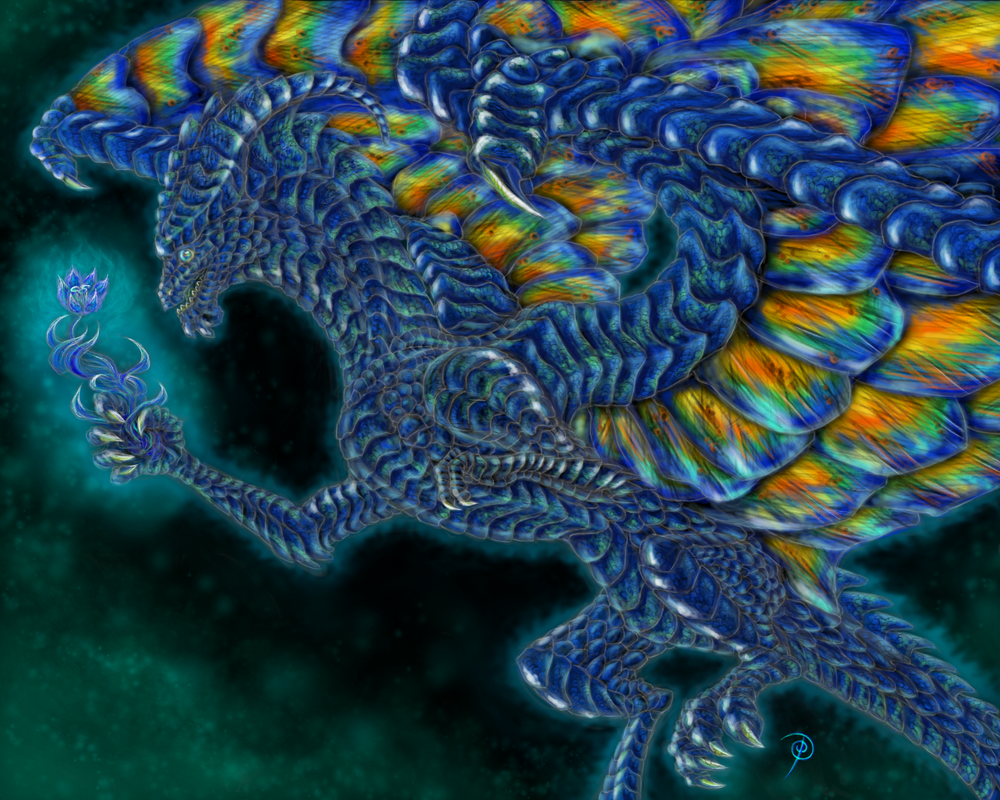 Labradorite Dragon by pluto-my-way