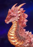 Rose Quartz Dragon by pluto-my-way