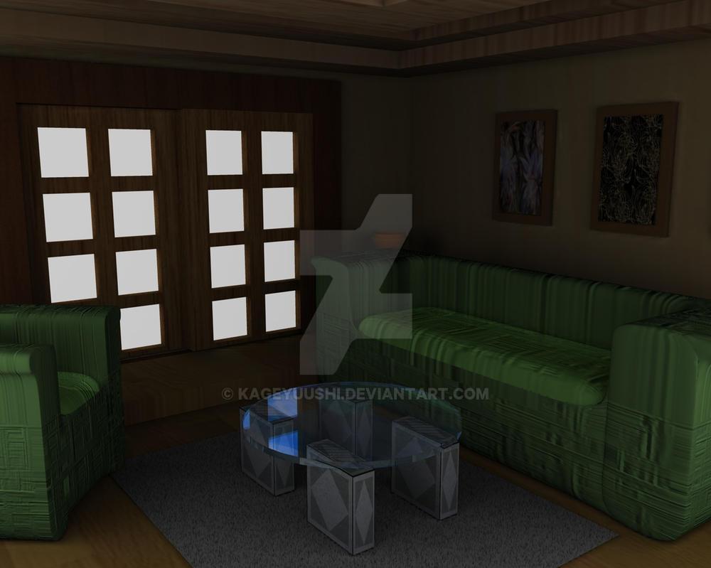 3d Living Room By Kageyuushi On Deviantart