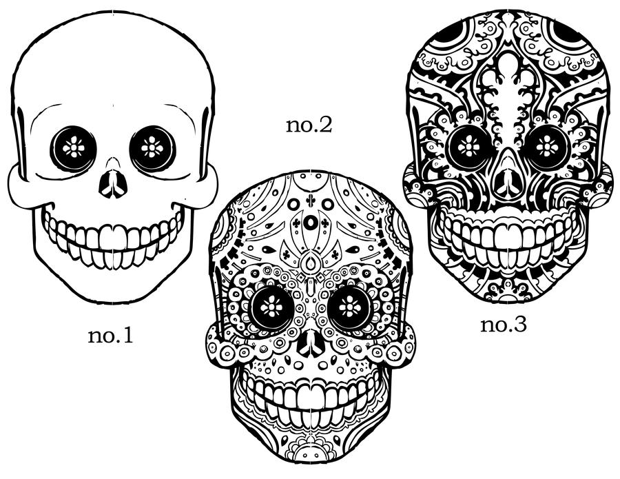 Sugar skulls 1 thru 3 by rochamiko on deviantart sugar skulls 1 thru 3 by rochamiko pronofoot35fo Images