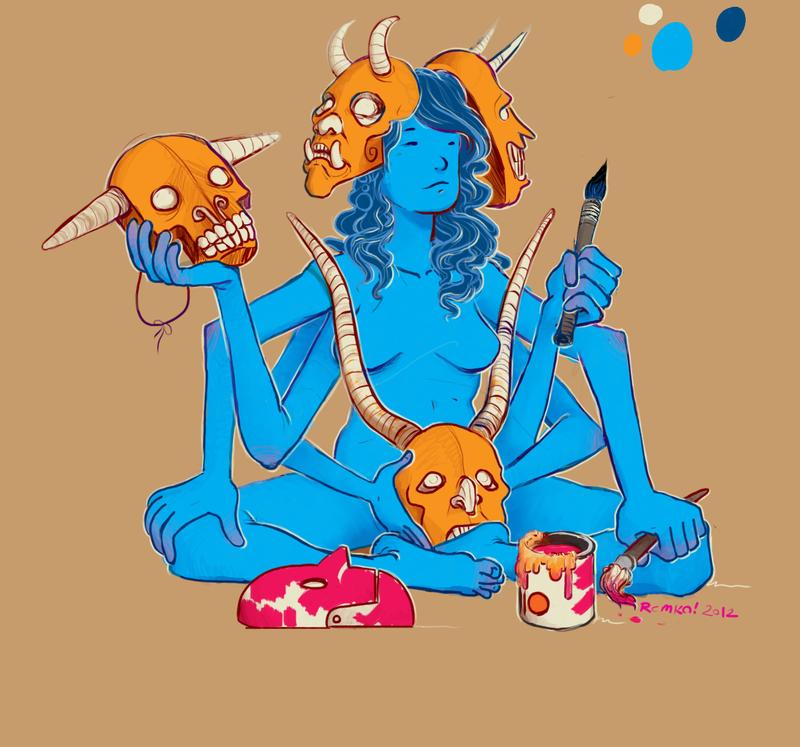 Mask God by RochaMiko