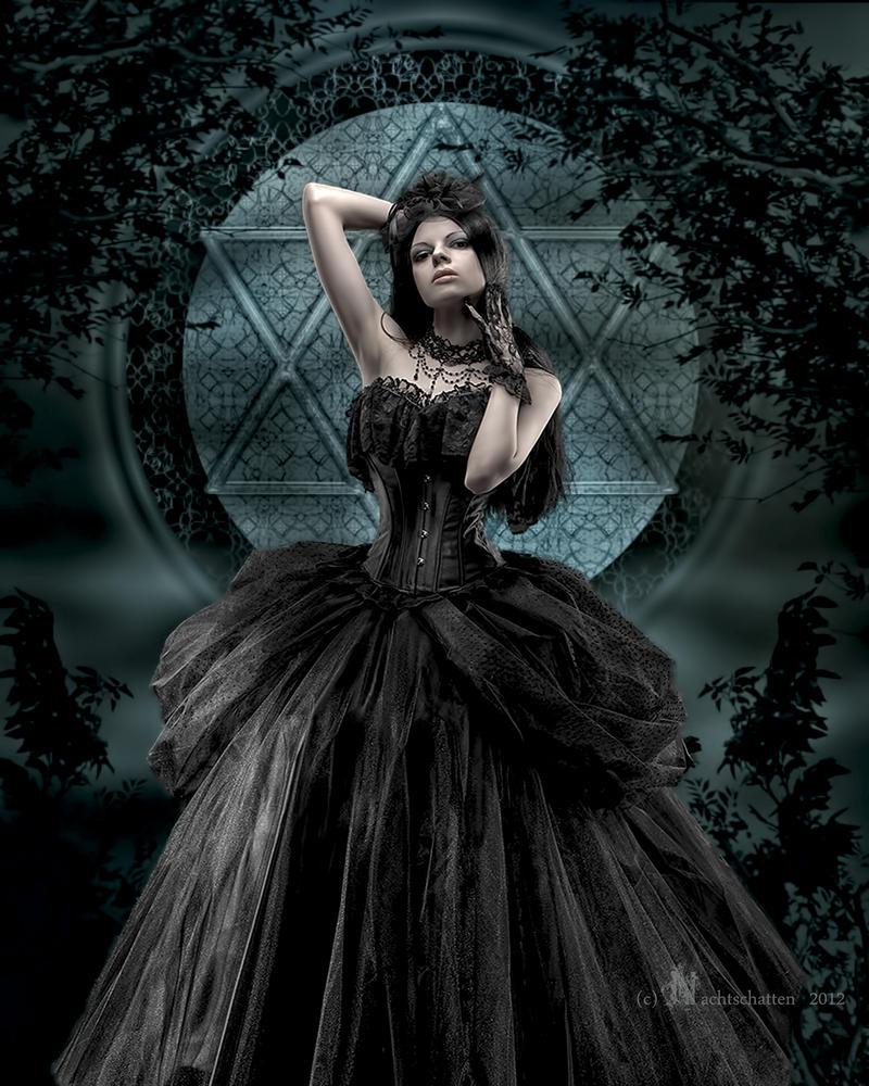 Gothic woman in dark 11 by bouzid27 on DeviantArt