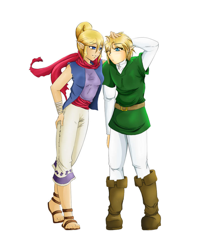 Commission: Link and Tetra by R-Legend