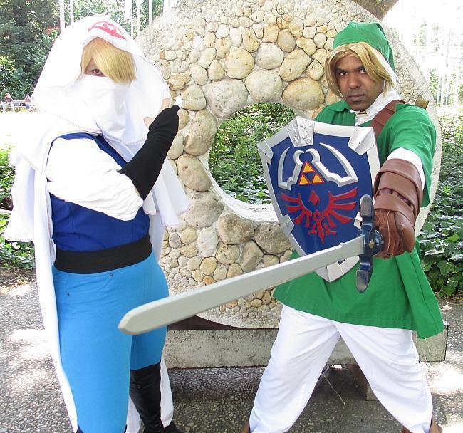Hylian Creed Sheik and Ocarina Link by R-Legend
