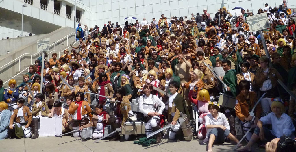 Attack On Titan Gathering At Anime Expo 2014 By R Legend
