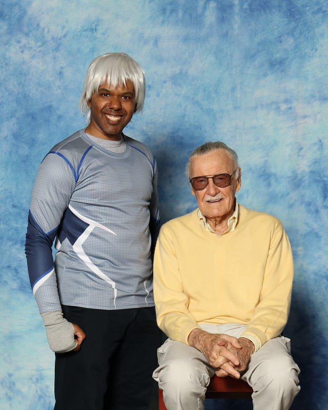 Quicksilver and Stan Lee