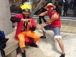 Sage Mode Naruto and Spider-Luffy by R-Legend