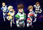 Commission: Gundam Wing Pilots As Voltron Pilots
