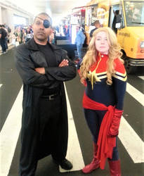 Nick Fury and Captain Marvel by R-Legend