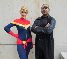 Captain Marvel and Nick Fury by R-Legend