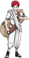 Commission: 'White Sand' Gaara by R-Legend