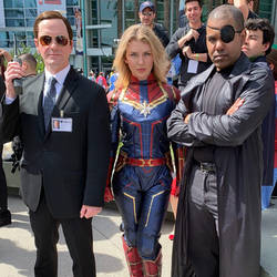 Agent Coulson, Captain Marvel and Nick Fury by R-Legend