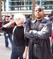 Killua Zoldyck and Nick Fury by R-Legend