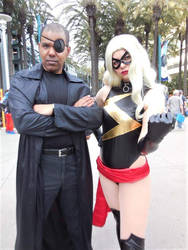 Nick Fury and Ms. Marvel by R-Legend