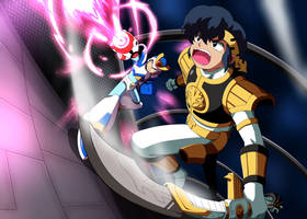 Commission: Rockman X and White Ranger Ryoga