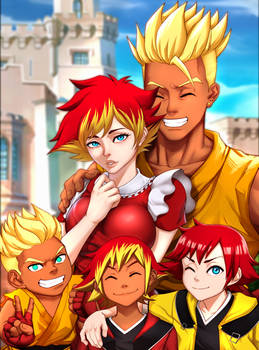 Commission: Super Saiyan Sean's Trophy Family