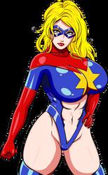 Moonstone as 'Captain' Marvel