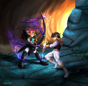 Commission: White Ranger vs. Black Inferno