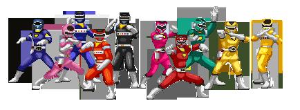 Commission: Turbo Rangers and Mega Rangers