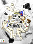 Chess game in space