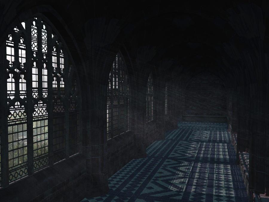 Hogwarts school corridor by everild wolfden on deviantart - Wallpaper corridor ...