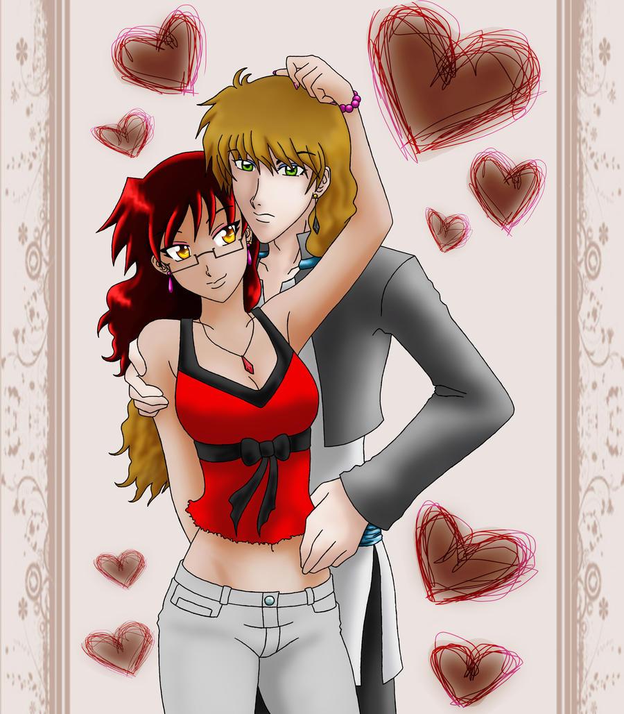 Amaya and Kage Valentine by Zamos