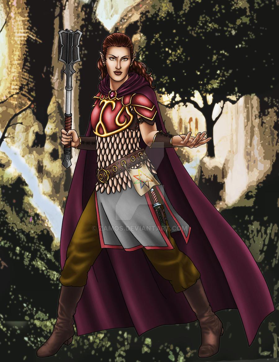 Half-Elf Fighter by Zamos