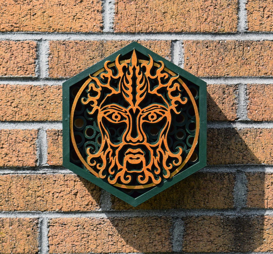 Green Man Bug Box by ILexEcoArt