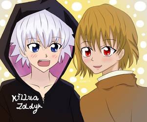 Killua Z. to Kurapika.K by Ayaki14