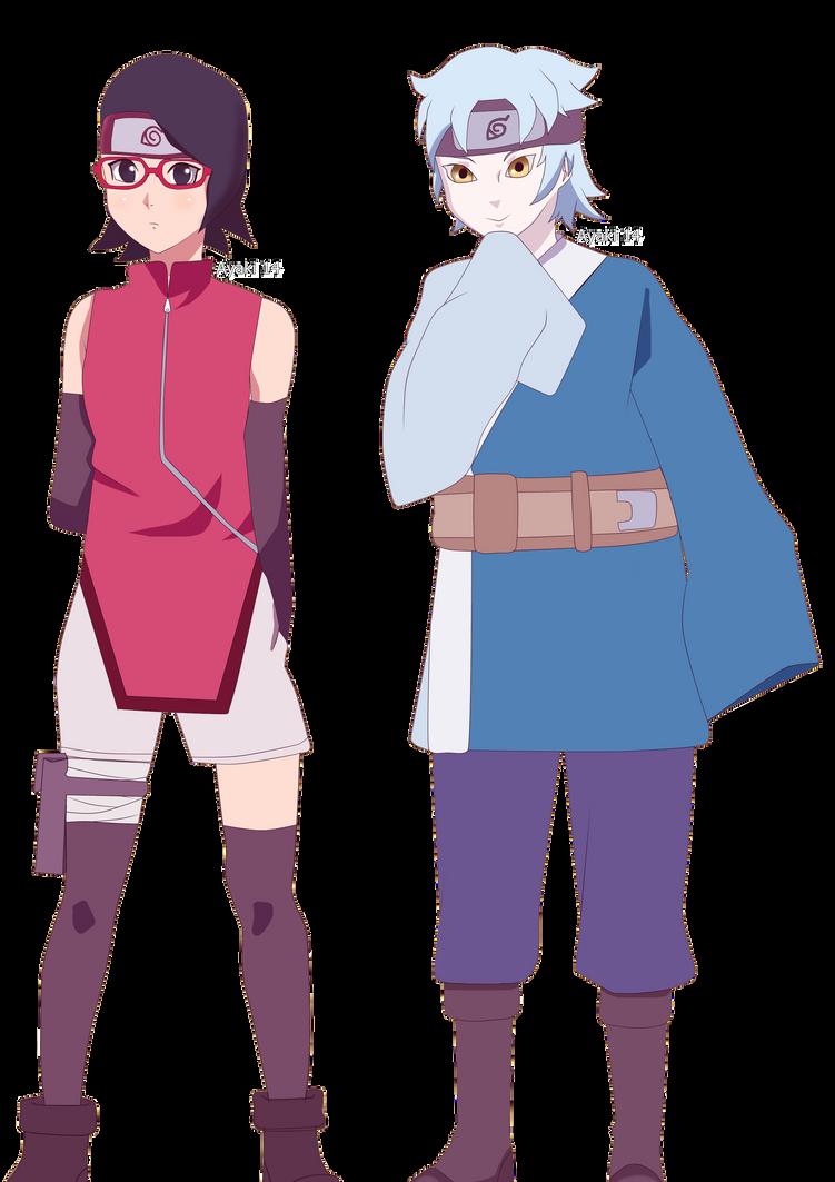 Sarada and Mitsuki by Ayaki14