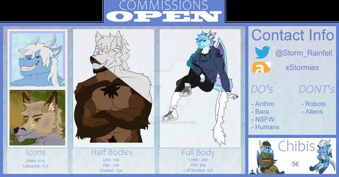 Commission sheet