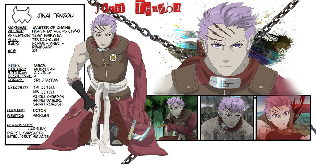 Naruto OC - Jinai Tenzou by Jellywolf25